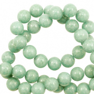 6 mm natural stone beads round Jade Meadow Green