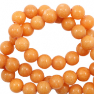4 mm natural stone beads round Jade Warm Peach