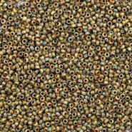 Miyuki seed beads 15/0 Opaque Picasso Brown 15-4517