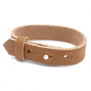 Cuoio bracelets nubuck leather 15 mm for 20 mm cabochon Sequoia Brown