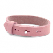 Cuoio bracelets nubuck leather 15 mm for 20 mm cabochon Pressed Rose Red