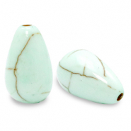 Beads Ceramic drop Meadow Turquoise