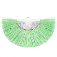 Tassels charm Silver-Turquoise Green