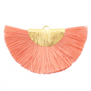 Tassels charm Gold-Living Coral Pink
