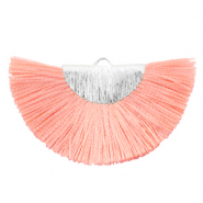 Tassels charm Silver-Burnt Coral Pink