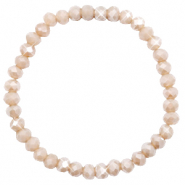 Top faceted bracelets 6x4mm Champagne Greige Opal-Pearl Shine Coating