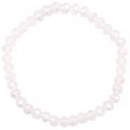 Top faceted bracelets 6x4mm Light Lavender Pink Opal-Pearl Shine Coating