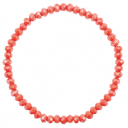 Top faceted bracelets 4x3mm Vintage Rose Peach-Pearl Shine Coating