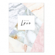 Jewellery cards 'with love' Off white-Rose
