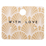 Jewellery cards 'with love' Art Deco Brown