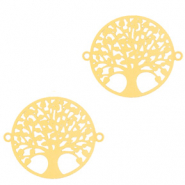Bohemian connectors tree of life 15mm Gold (nickel free)
