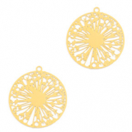 Bohemian charms wish flower Gold (nickel free)