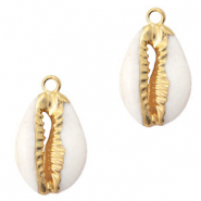 Shell pendant specials Cowrie Cream Beige-Gold