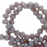 Top faceted beads 4x3mm disc Anthracite-Pearl Shine Coating