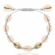 Anklets Cowrie Grey-Gold