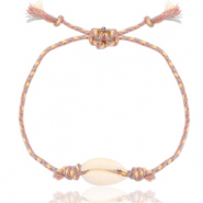 Ready-made Bracelets Cowrie Beige Mix