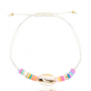 Ready-made Bracelets Cowrie White-Half Gold