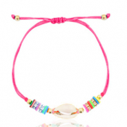 Ready-made Bracelets Cowrie Fluor Pink