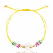 Ready-made Bracelets Cowrie Yellow