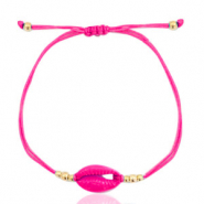 Ready-made Bracelets Cowrie Cherry Pink-Gold
