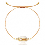 Ready-made Bracelets Cowrie Beige-Gold