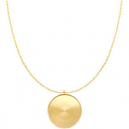 Polaris Steel necklace with setting for 35mm cabochon Gold