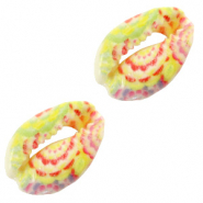 Shell beads specials Cowrie Flower Yellow