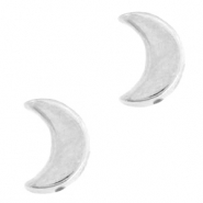 DQ European metal beads moon Antique Silver (nickel free)