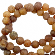 4 mm natural stone beads brown stone matt Multicolour Dark Brown