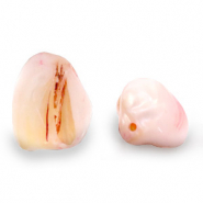 Shell beads nugget shape Light Pink
