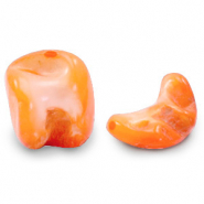 Shell beads nugget shape Persimmon Orange