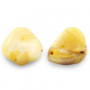 Shell beads nugget shape Yellow