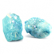 Chips stone beads crystal quartz Turquoise Blue