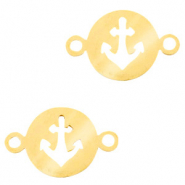 Stainless steel charms connector anchor Gold