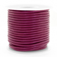 Benefit package DQ leather round 3 mm Aubergine Purple