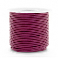 DQ leather round 1 mm Aubergine Purple