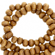 Wooden beads round 6mm Nature Wood-Brown