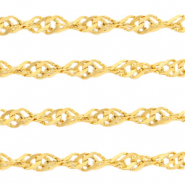 Stainless Steel findings weave belcher chain 3.4mm Gold