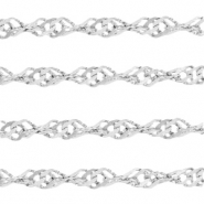 Stainless Steel findings weave belcher chain 3.4mm Silver