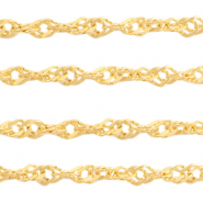 Stainless Steel findings weave belcher chain 2.6mm Gold
