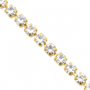 Rhinestone chain Crystal-Gold