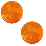 12 mm flat Polaris Elements cabochon Lively Rame Red