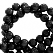 Polaris beads round 6 mm pearl shine Nero Black