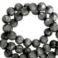 Polaris beads round 6 mm pearl shine Carbone Black