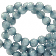 Polaris beads round 6 mm pearl shine Acquario Blue