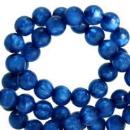 Polaris beads round 8 mm pearl shine Iolite Blue