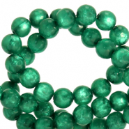 Polaris beads round 6 mm pearl shine Agate Green