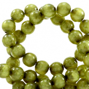 Polaris beads round 6 mm pearl shine Origano Green