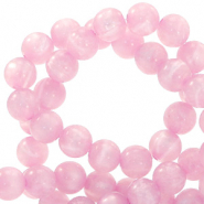 Polaris beads round 6 mm pearl shine Quarzo Pink