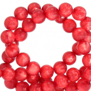 Polaris beads round 6 mm pearl shine Ibisco Red